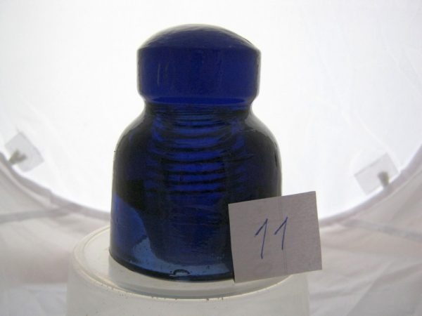 cobalt blue glass insulator